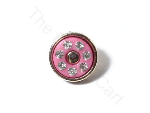 Pink Stone Work Acrylic Buttons