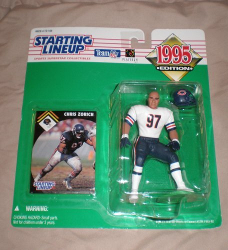 1995 Chris Zorich NFL Starting Lineup Figure Chicago Bears