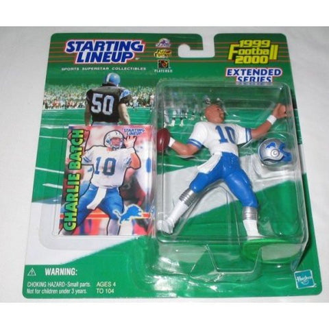 1999 NFL Starting Lineup Charlie Batch Detroit Lions