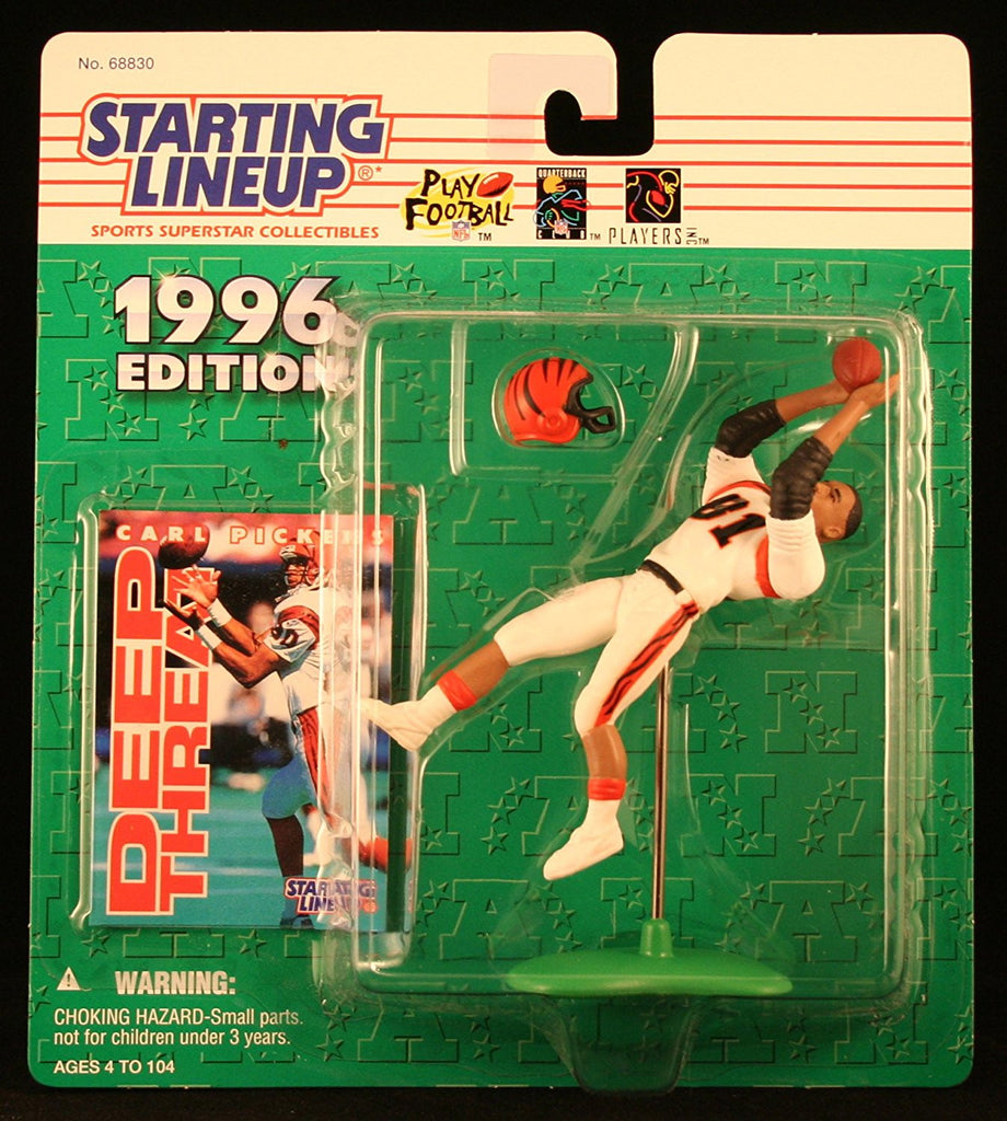 CARL PICKENS / CINCINNATI BENGALS 1996 NFL Starting Lineup Action Figure & Exclusive NFL Collector Trading Card