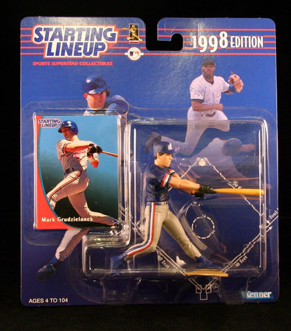 MARK GRUDZIELANEK / MONTREAL EXPOS 1998 MLB Starting Lineup Action Figure & Exclusive Collector Trading Card