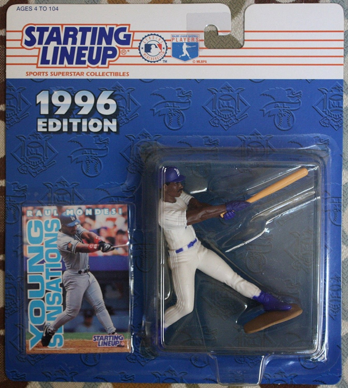 1996 Raul Mondesi MLB Starting Lineup Los Angeles Dodgers