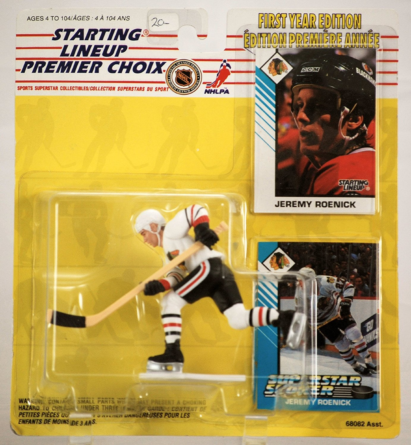 Jeremy Roenick 1993 Starting Lineup Chicago Blackhawks