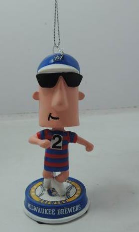 2014 Racing Sausage Polish #2 Holiday Ornament Bobble head only 360 were made Forever collectibles Milwaukee Brewers Christmas ornament