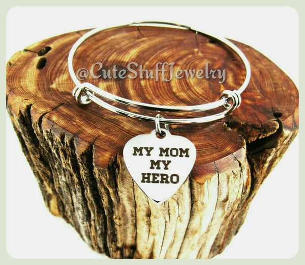 My Mom My Hero Bracelet, My Mom My Hero Bangle