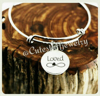 Loved Infinity Bracelet, Loved Infinity Bangle