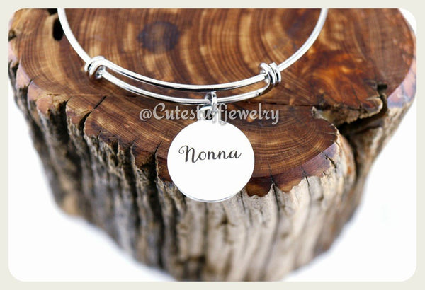 Nonna bracelet, Nonna Bangle, Handmade Nonna Jewelry, Nonna Gift, Grandmother bracelet, Grandma bracelet
