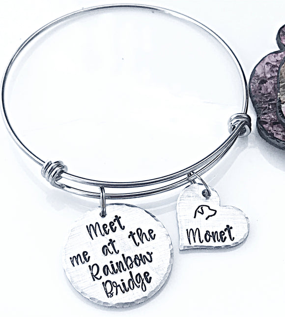 Rainbow Bridge Bracelet, Dog Memorial Bracelet, Gifts for Pet Loss, Dog Loss Bracelet, Pet Sympathy Gifts, Dog Loss Jewelry