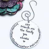 Personalized Hand Stamped Best Friend Christmas Ornament