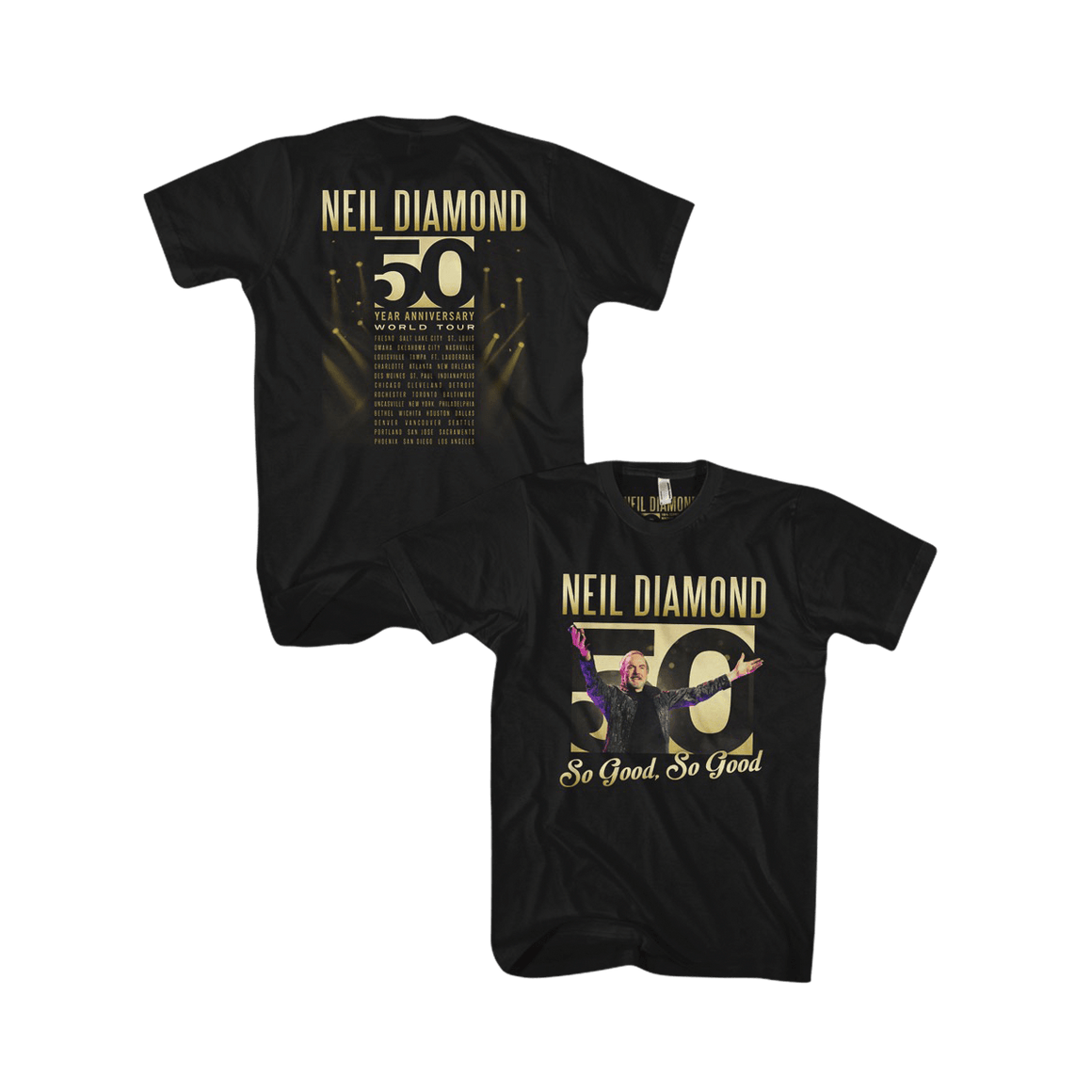 50th Anniversary Tour Tee-Neil Diamond