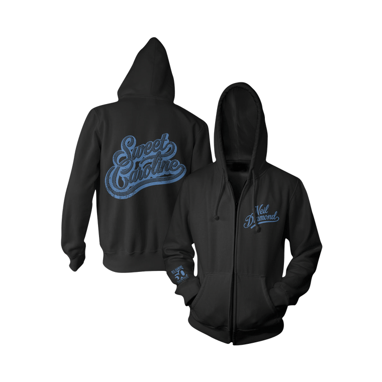 Sweet Caroline Zip-Up Hoodie-Neil Diamond