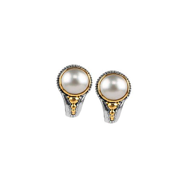 Konstantino - Sterling Silver & 18k Classics Pearl Earrings, SKKJ341-122