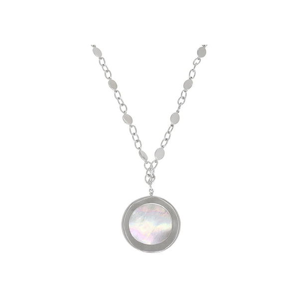 Bailey's Fashion - SS Mother of Pearl Pendant, SN0309SMW20