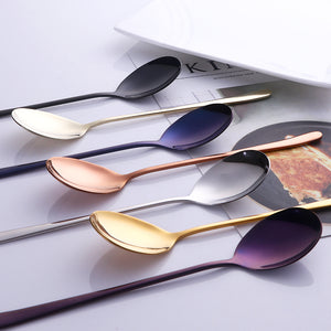 colorful spoon set