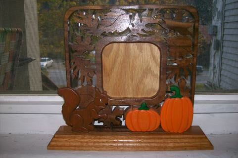 Squirrel and Pumpkin Frame