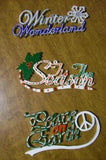 Christmas Words Ornaments