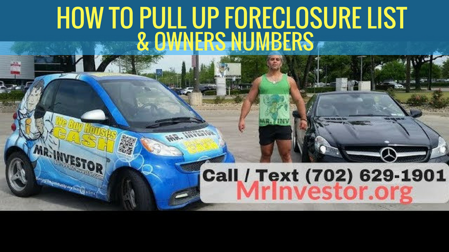 How to Pull up the Foreclosure List, and Find the Home Owners Phone Number