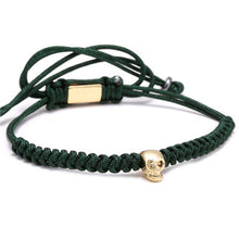 Skull Head Braided Weaving Rope Bracelets - Sky Bracelets