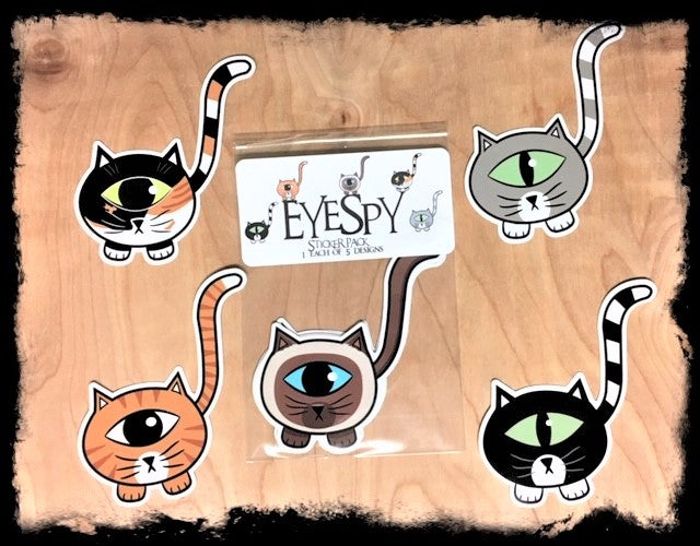 EyeSpy Kittyclops Sticker Pack - Morphe