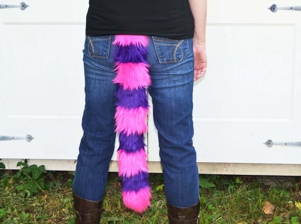Cat Tail Pink with Purple Stripes Faux Fur - Morphe