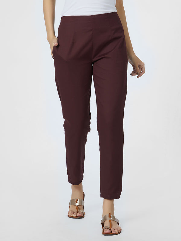 Narrow Brown Pants
