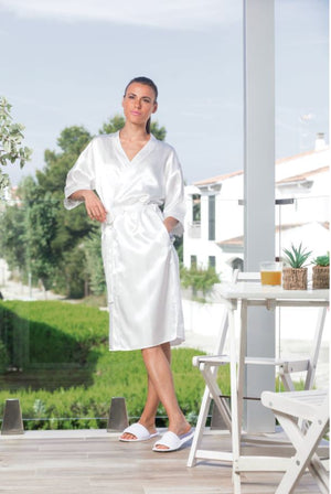 Womens Satin Robe