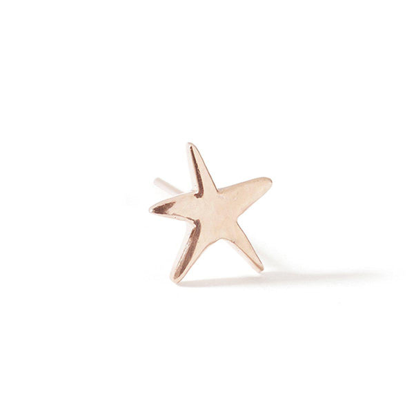 The Star Stud in Rose Gold