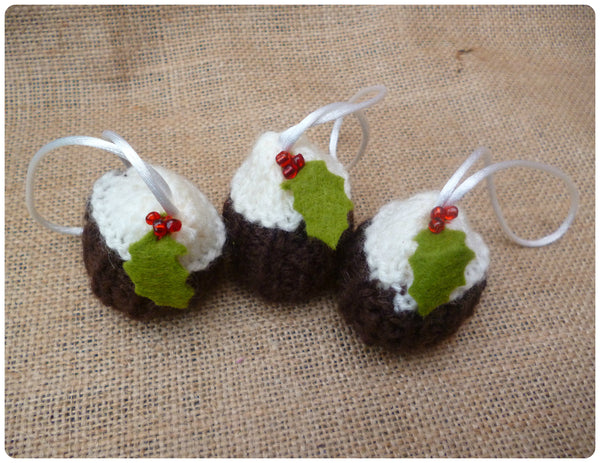 Mini Christmas Pudding Tree Decorations