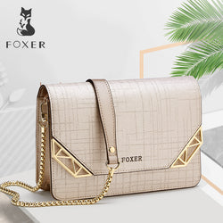 FOXER Cowhide Leather Crossbody  bag