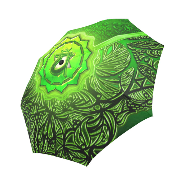 Heart Chakra Anahata Auto-Foldable Umbrella
