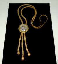 Rafael Canada Lariat Necklace - Mother of Pearl Glass - Kinetic