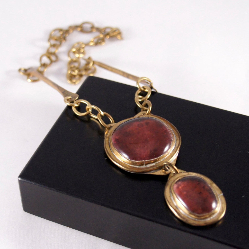 Rare Rafael Canada Necklace - Double Stone