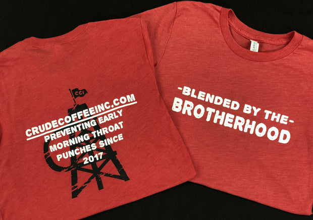 """Blended By"" Red Short Sleeve Tee"