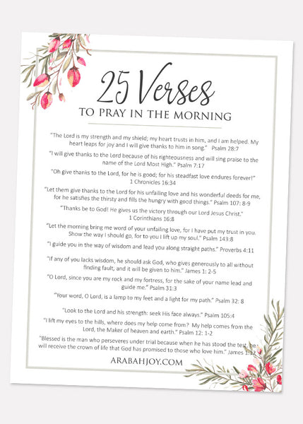 25 Verses to Pray in the Morning