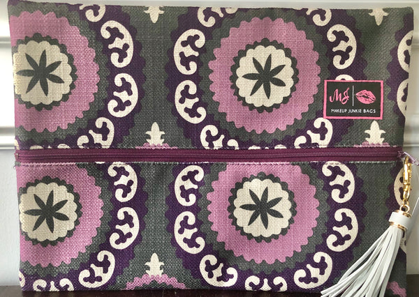 Purple and Gray Geo Floral Bag *LIMITED EDITION* SOLD OUT