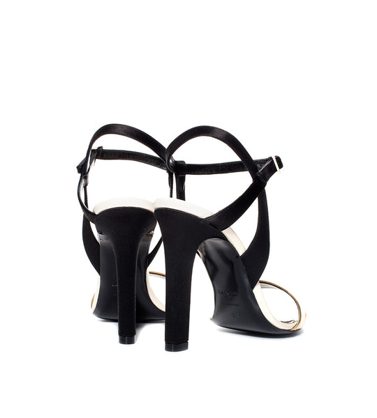 Lanvin Gold Trim Leather Sandal - TheSeptember.com