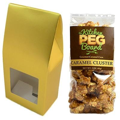 Dusty Gold Party Favor Popcorn Gable Treat Box