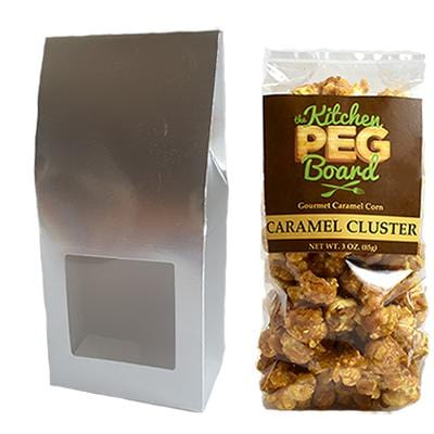 Silver Party Favor Popcorn Gable Treat Box