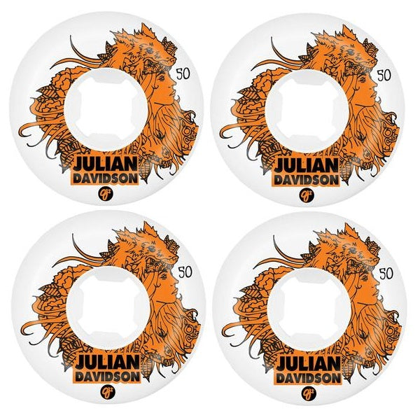 OJ 50mm Julian Davidson White Skateboard Wheels