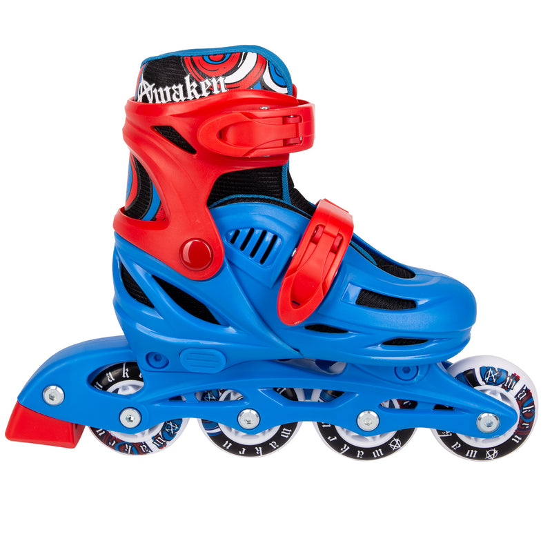 Cal 7 Adjustable Size Inline Skates | Beginner Roller Hockey Blades For Kids, Boys, Girls