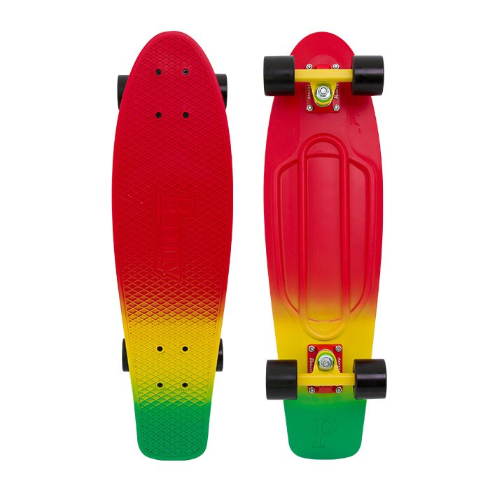 Penny 27 Inch Plastic Waffle Top Mini Cruiser: Red Down