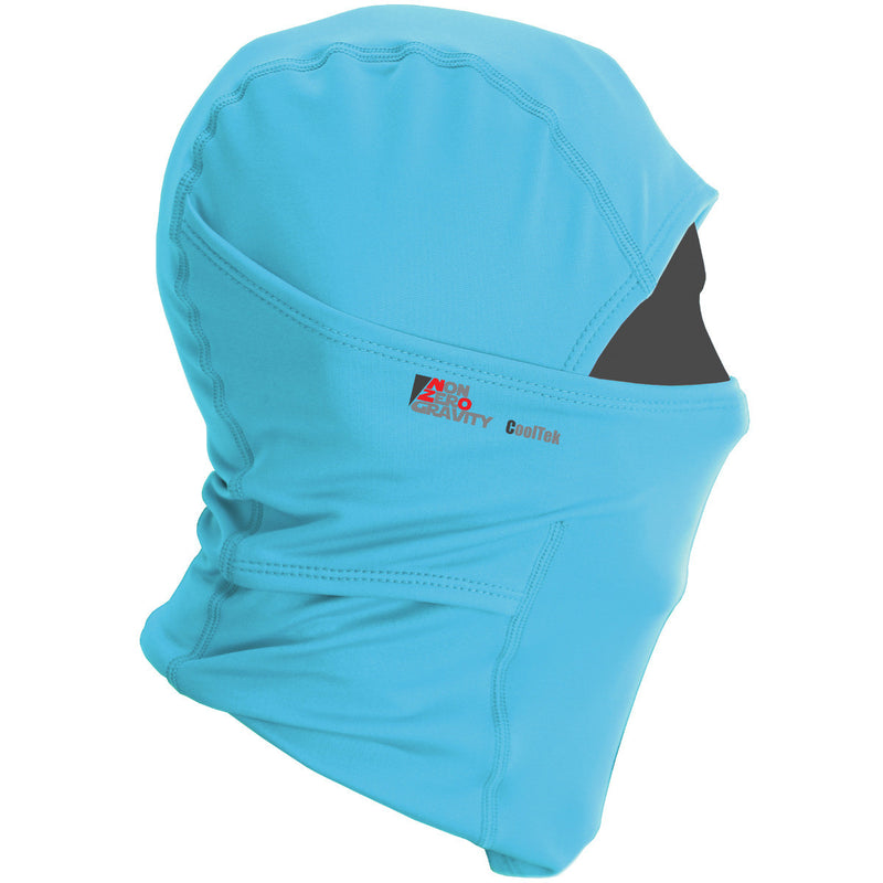 blue summer balaclava for cycling