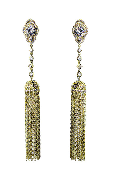white gold statement Earrings, Yellow gold Dangle Earrings,18k Gold plated,Trendy, Crystals,Wedding Jewelry