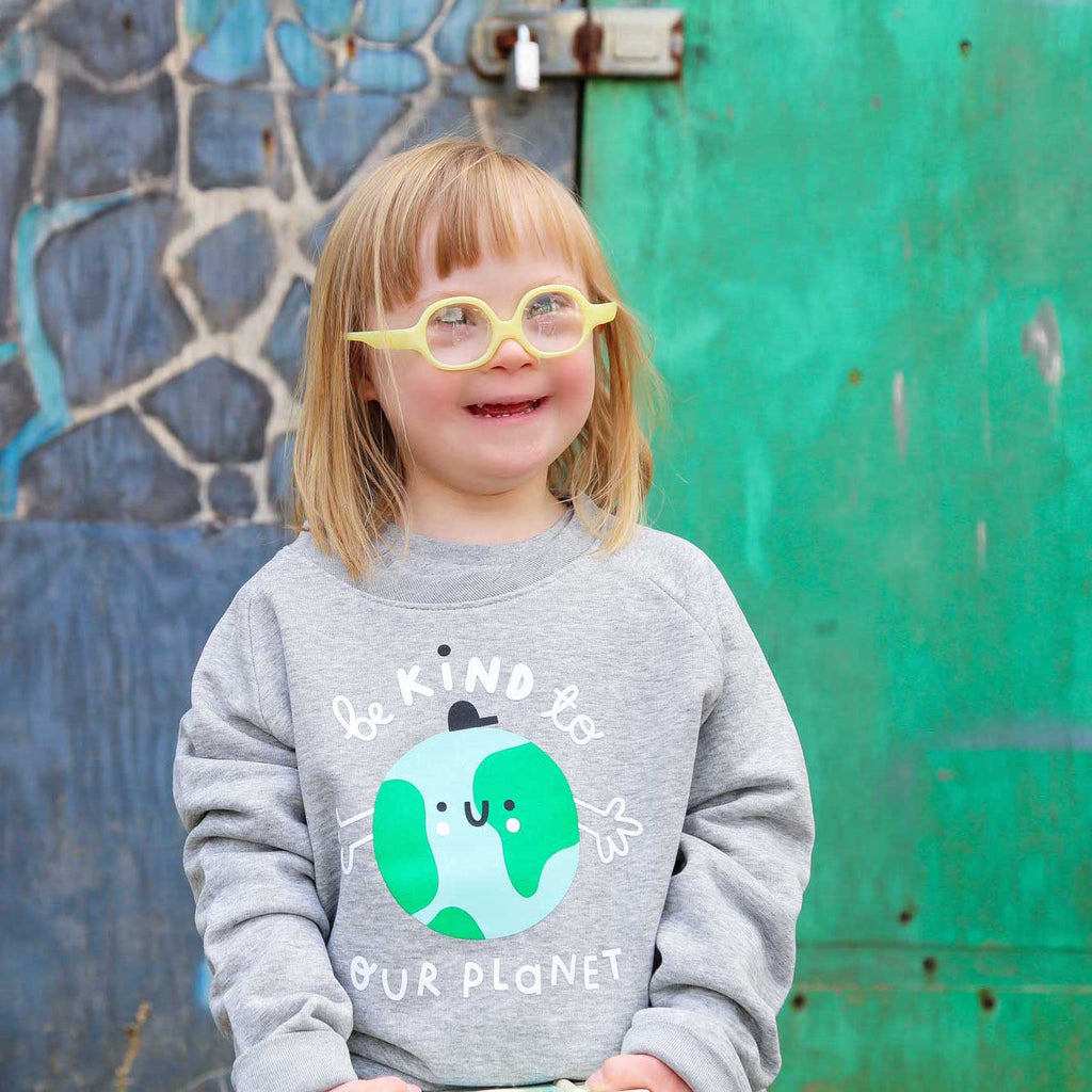 Kids Earth Sweatshirt - Grey - The Kindness Co-Op Children's Clothing & Gifts