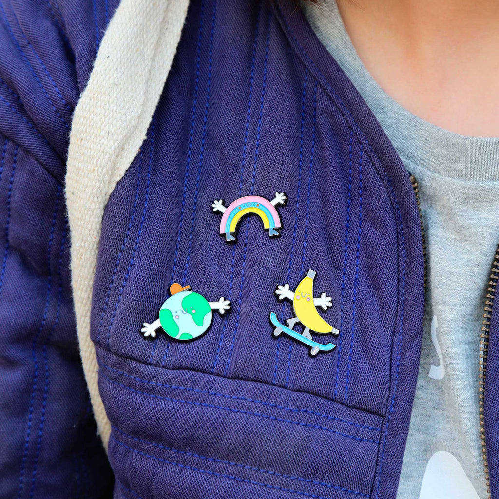 Banana Enamel Pin Badge - The Kindness Co-Op Children's Clothing & Gifts