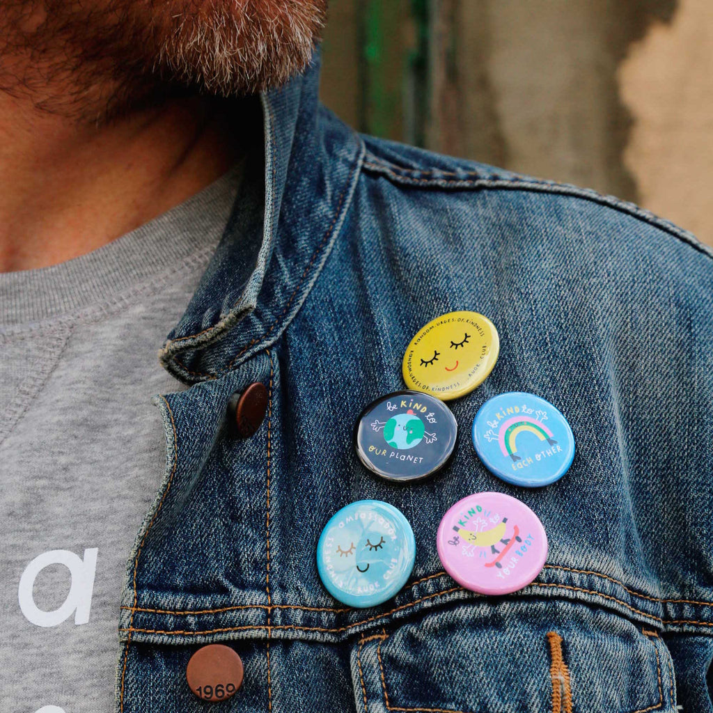 Earth Button Badge - The Kindness Co-Op Children's Clothing & Gifts