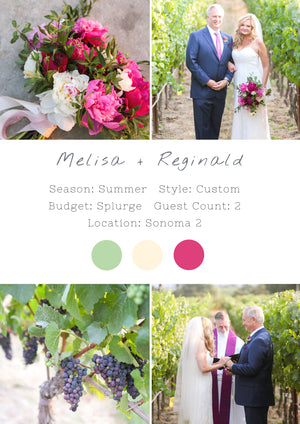 Melisa + Reginald - Sonoma 2 Elopement