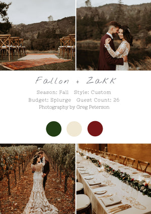 Fallon + Zakk - Napa Wedding