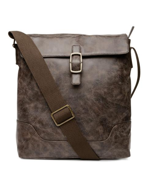 Hiveaxon Brown Messenger Bag