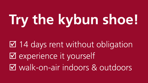 try the kybun shoe - risk free